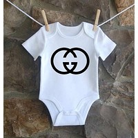 Gucci Dio Yves Saint Laurent Balenciaga Moschino Baby Onesuit-3