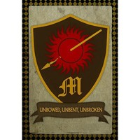 (13x19) House Martell Crest Television Poster