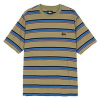 Harbour Stripe Crew Olive