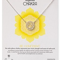 """Dogeared Be Confident Chakra Necklace, 18"""""""