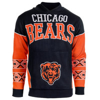 """Chicago Bears Official NFL """"Big Logo"""" Hooded Sweatshirt by Klew"""