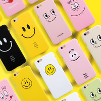 Hard PC Phone Case For iphone 5 5s SE 6 6s 6plus Cartoon Funny Lovely Simile Face Expression Back Case Cover