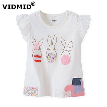 Quality Cotton Baby Girls t-shirt Short Sleeve Kids Clothes Summer Tee T-Shirt Baby Girls Clothing