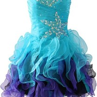 Kamilione Women's Organza Ball Gown Short Homecoming Prom Dress