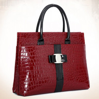 New Luxury Lady bags handbags women famous brands Crocodile Pattern Hobo Handbag Tote Fashion Lady