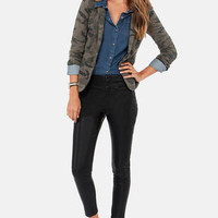 Ride Along Cropped Black Vegan Leather Pants