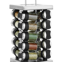 Martha Stewart Collection Square Stainless Steel Spice Rack, 21-Piece Set, Created for Macy's, | macys.com
