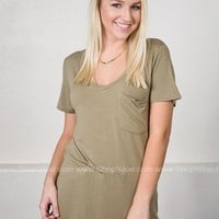 V-Neck Simple Fun Top | Neutrals