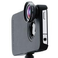 iPro Lens System Wide Duo Kit with Fisheye Lens, Wide Angle Lens, iPhone 4/4S Case and Handle/Lens Case