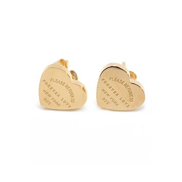 Heart Stainless steel Stud Earrings