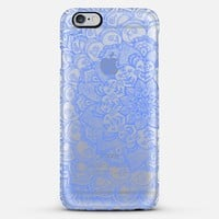 Cornflower Blue Transparent Lace iPhone 5s case by Micklyn Le Feuvre | Casetify