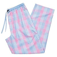 Gingham Savannah Lounge Pant in Lilac and Pink by Southern Marsh