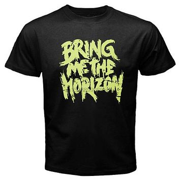 New BMTH Bring Me The Horizon Rock Band Logo Mens Black T Shirt Size S to 3XL|T-Shirts