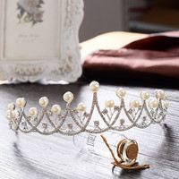 Prom Dress Accessory Korean Rhinestone Crown Princess Hair Accessories Wedding Dress [9284028100]