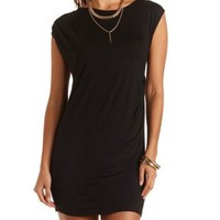 Ruched Bodycon T-Shirt Dress by Charlotte Russe - Black