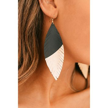 Searching For You Drop Earrings (Gold/Black)