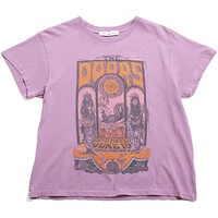The Doors Concert Poster Tour Tee Dusty Orchid