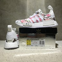 Adidas NMD R1 Peach Blossom BY3059 Boost Sport Running Shoes Classic Casual Shoes Sneakers