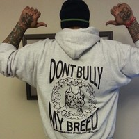 """""""DONT BULLY MY BREED"""" (BACK PRINTED) Hoodies➜ More Colors"""