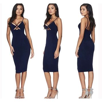 Bodycon Sheath Sleeveless Party Dress