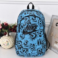 Nike Sport Hiking Backpack College School Travel Bag Day pack number Blue