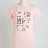 Sayings Mid-length Short Sleeves That'll Be the Weekday Tee