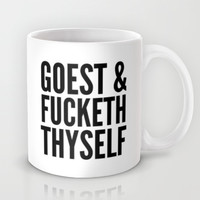GOEST AND FUCKETH THYSELF Mug by CreativeAngel