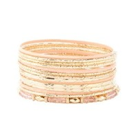 Coated, Textured & Beaded Bangles - 14 Pack