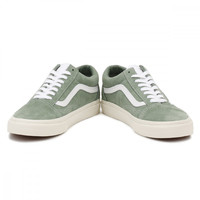 Vans Womens Green / True White Retro Sport Suede Old Skool Trainers