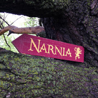 Narnia Wooden Directional Sign - Made to Order