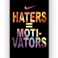 Nike Haters Motivation Custom for iPhone 4/4S Case *
