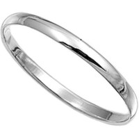 Sterling Silver Wedding Band Ring - 2mm
