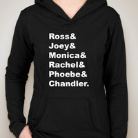 "Friends TV Show F.R.I.E.N.D.S ""Ross & Joey & Monica & Rachel & Phoebe & Chandler."" Unisex Adult Hoodie Sweatshirt"