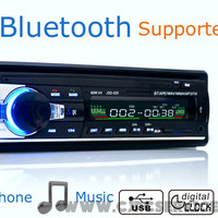 Car Radio Stereo Player Bluetooth Phone AUX-IN MP3 FM/USB/1 Din/remote control 12V