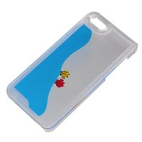Easygoby Creative Design Free Flowing Liquid Swimming Fish Clear Hard Case For Apple iphone 5 5S (Blue):Amazon:Cell Phones & Accessories