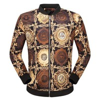 LMFONQ Boys & Men Versace Cardigan Jacket Coat