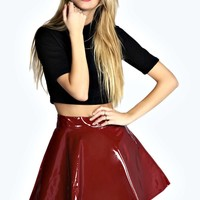 Bella Patent Full Circle Skater Skirt
