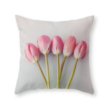 Society6 If I Had A Flowe Throw Pillow