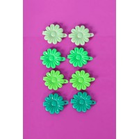 Green With Envy Floral Hair Clips