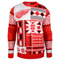 """Detroit Red wings Official NHL Men's """"Ugly Sweater"""" by Klew"""