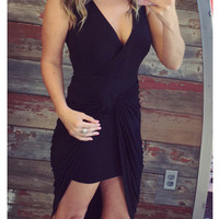 Not Knotty Dress: Black
