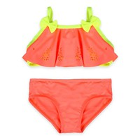Baby Buns 2-Piece Pineapple Cut-out Swimsuit in Orange/Yellow