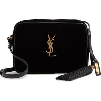Saint Laurent Lou Velvet Matelassé Camera Bag | Nordstrom