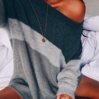 New Women Long Sleeve Casual Fashion Loose Pullovers Sweater