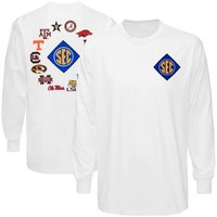 SEC Gear 2012 Conference Diamond Long Sleeve T-Shirt - White