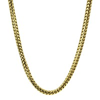Men's 3.5mm Franco Chain Necklace in 14k Yellow Gold