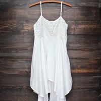 free spirited white boho dress