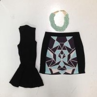 Geo Mama Skirt : Swoon Boutique