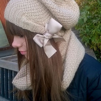Winter Set for Women/ Women Hat and Scarf/ Tube Scarf/ Knitted Beanie/ Knitted Hats/ Winter Hat/ Warm Scarf