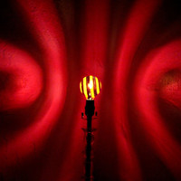 The ORIGINAL Hand-Painted Red Spiral Mood-Light Bulb 4 Color Therapy, Night Lights, Parties, Mood Lighting